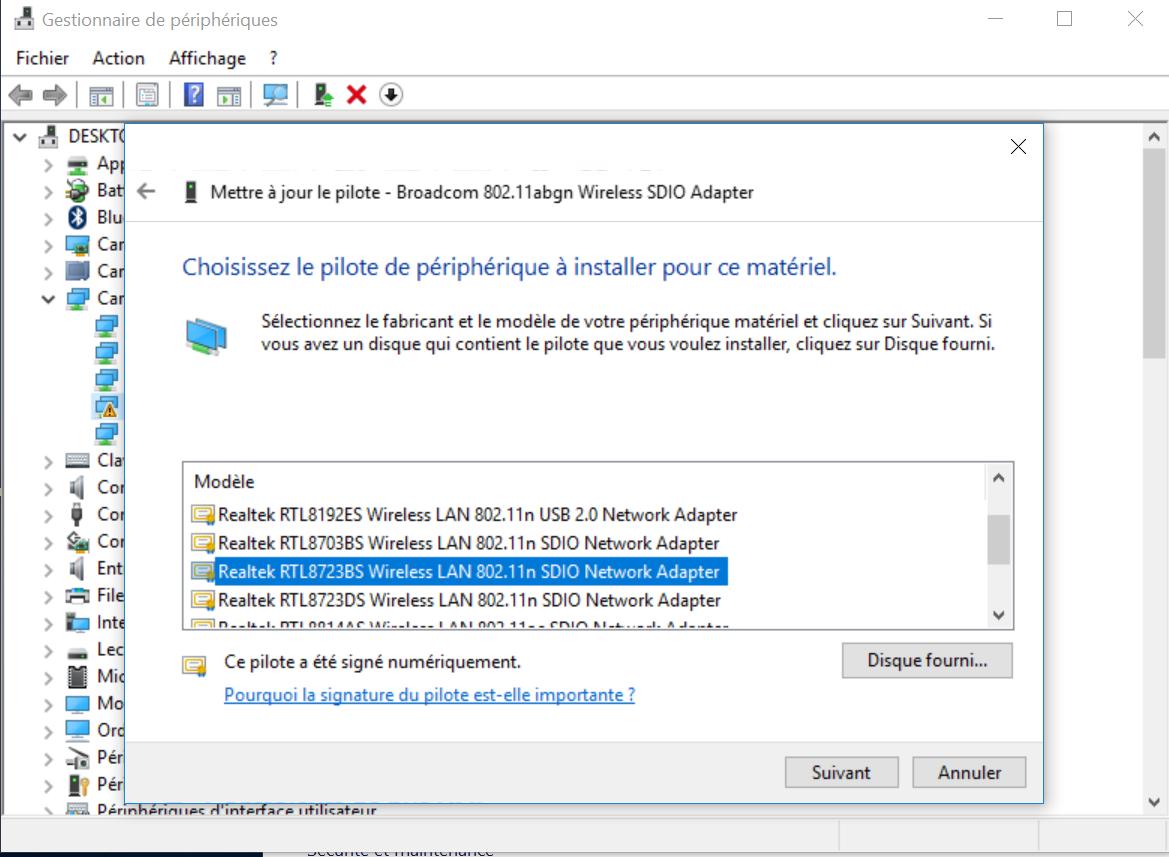 PILOTE BROADCOM 802 11 - Problème De Pilote Wifi Windows 7
